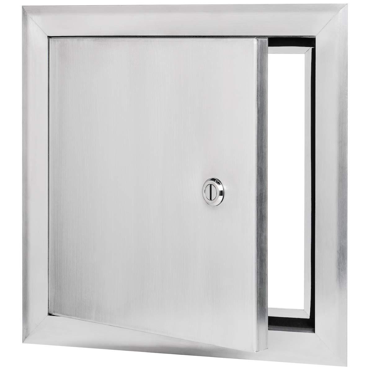 Keyed Cylinder Latch Premier 2400 Series Aluminum Universal Access Door 14 x 14