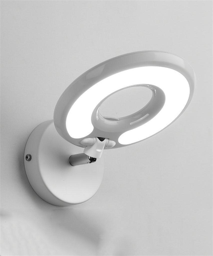 Weiß YAN Zhen Modernes einfaches kreatives LED-Wand-Lampen-Schlafzimmer Bedside Hotel-Studie Raum-Schutz-Augen-Wand-Lichter (Farbe   Weiß)