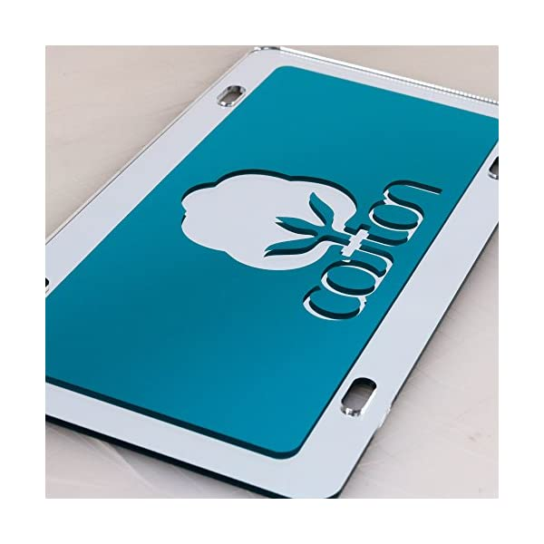JASS-GRAPHIX-Teal-Cotton-License-Plate-Mirror