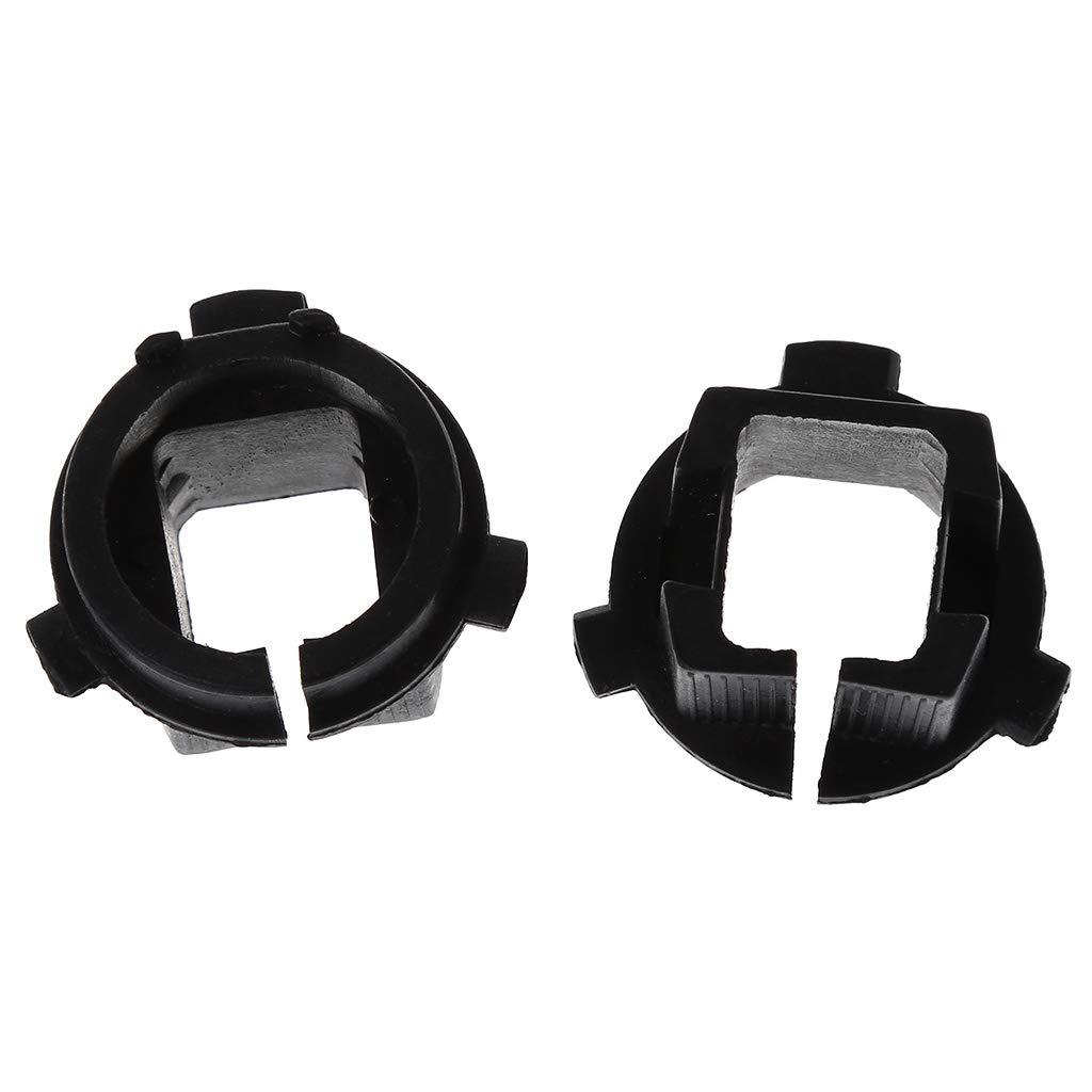 2 x schwarze H7 Xenon-Sockel Auto LED Scheinwerfer Birne Adapter Halter Halterung Halterung Halterung Halterung Halter Halter f/ür K5 Autos Frontscheinwerfer Halter Kit FlowerPEI
