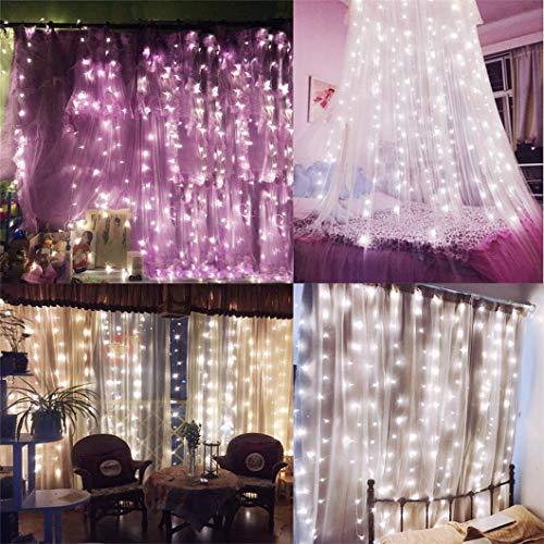 Bedroom Curtain Lights Amars 3m X 3m Window String Fairy
