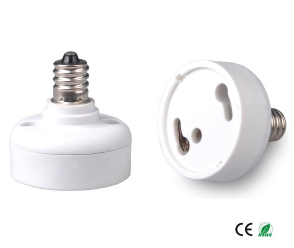 E-Simpo15pcs E12 to Gu24 Adapter, Candelabra base E12 to Gu24 Lamp Base Converter, CE ROHS