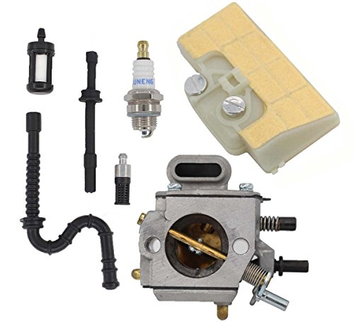 Carburetor & Air Filter & Spark Plug & Fuel Line Oil Line & Fuel Filter Kit For Sthil 029 039 MS290 MS310 MS390 Chainsaw Saw