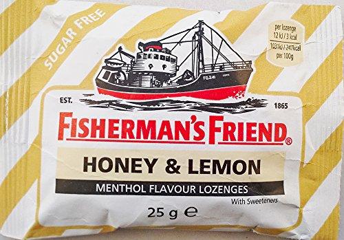 Fishermans Friend Honig & Zitrone Menthol Flavour ZUCKER Pastillen - 12 x 25g