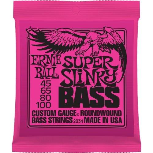 (Musical Instrument Ernie Ball 2834 Super Slinky Bass Nickel Round Wound String (.045 - .100) Music Tool)