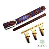SALE - Professional ARMENIAN DUDUK Pack - 3 reeds - handmade Oboe Balaban Woodwind Instrument Apricot Wood National case - Gift Armenian flute with Playing Instruction