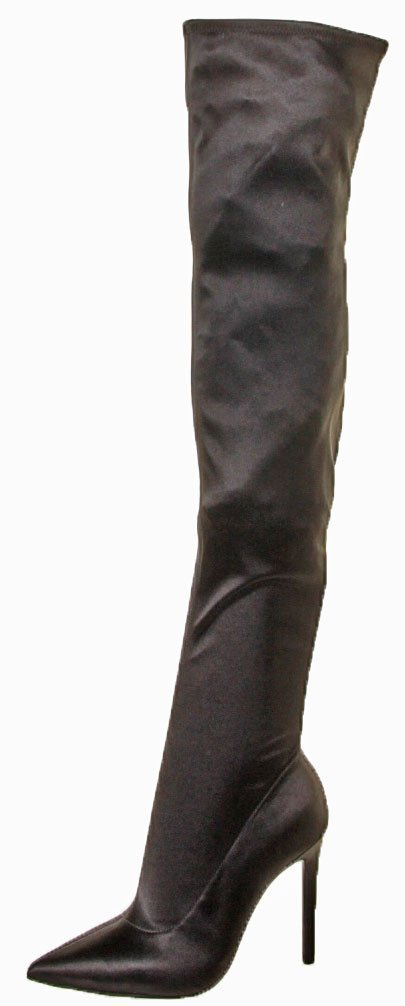 KENDALL + KYLIE Women's Anabel Over The Knee Boot, Black, 6.5 Medium US
