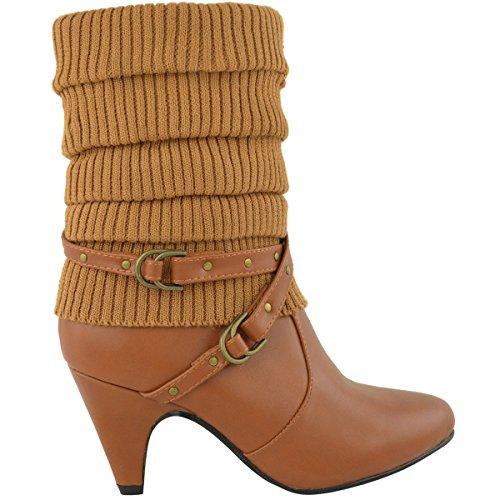 LADIES BIKER HEEL Leather HIGH CALF Tan SIZE Faux ANKLE BOOTS WOMENS STILETTO KNEE WINTER LOW MID pgqpwnSUr