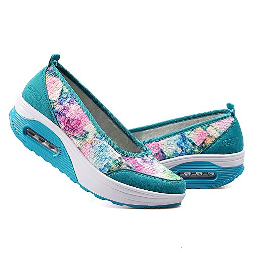 Clearance Sale Sneakers For Women,Farjing Women Air Cushion Net Surface Shoes Shake Shoes Slip Sport Leisure Sneakers(US:7,Sky Blue) -
