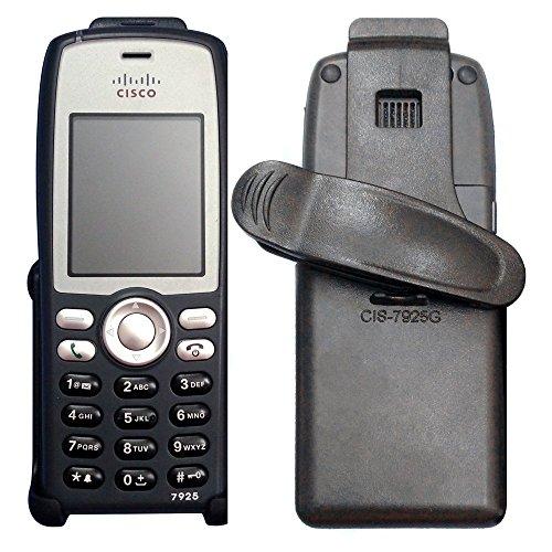 Ewirelessgear HOL-CIS7925G for Cisco 7925G 7925G-EX IP Phone Swivel Belt Clip Holster Carrying Case, Black