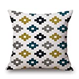 slimmingpiggy geometric throw cushion covers 20 x 20 inches / 50 by 50 cm best choice for teens girls,chair,adults,sofa,divan,christmas with twin sides