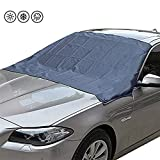 GMMcar Car Windshield Cover,Heavy Duty Ultra Thick Protective Snow Ice Frost Sun UV Dust Water Resistent,for Fits Most Car