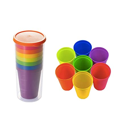 10 Kunststoffbecher Partybecher 0,4l  Becher farbige Trinkbecher NEU Mehrweg