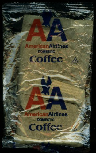 70s Wrap - American Airlines Domestic Coffee pouch in unopened shrinkwrap 1970s?