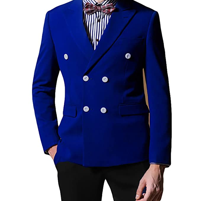 Cloudstyle para Hombre Funda Doble Breasted Blazer de Solapa ...
