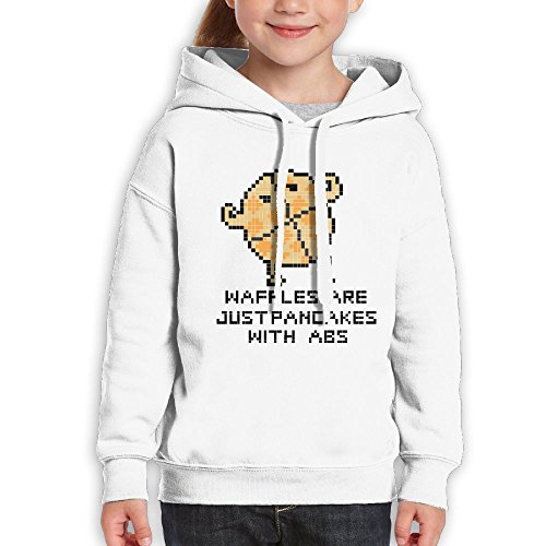 RWEA Waffles Are Just Pancakes With Abs Girl' Classic Vintage Sports Hoodies Casual Clothing