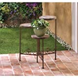 Cheap Garden Planters Wooden Iron Multi Tiered Plant Stand Indoor Outdoor Home Corner Decorative Ornament