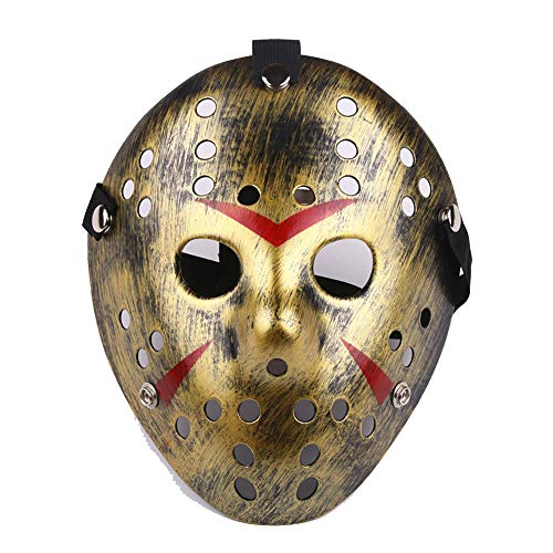Party Masks - Scary Horror Masks Movie Hockey Mask Cosplay Halloween Party Costume - Women Headbands Adults Kids Masks Stick Glasses Male Dinosaur Lace White Adult Superhero Bulk Party Ma -