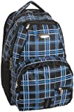 iSafe Child School BackPack, Blue Plaid, One Size