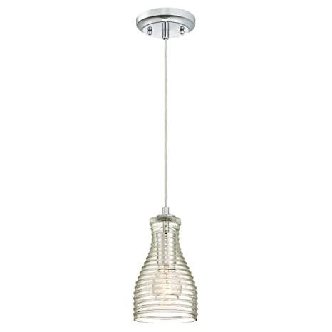 Westinghouse One-Light Indoor Pendant Lámpara de Techo Cromado