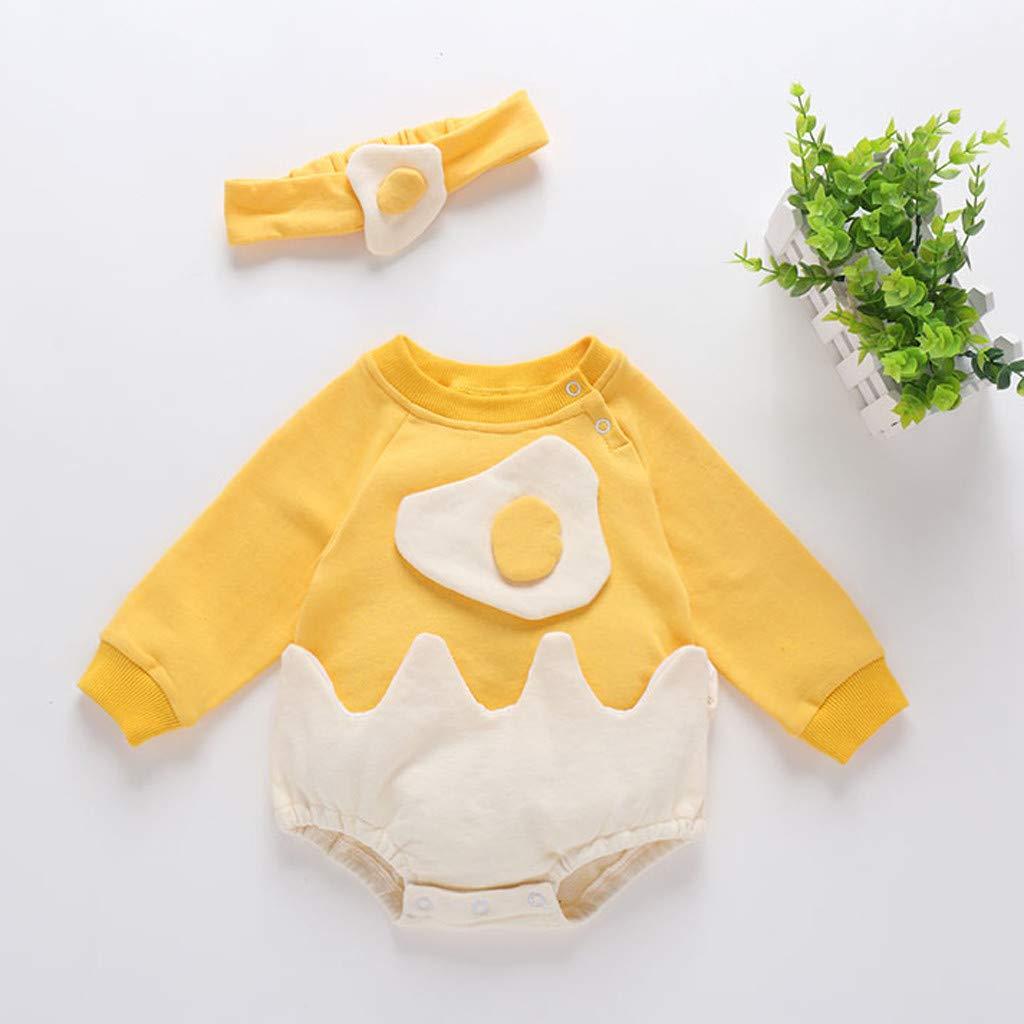 YOUU - Disfraz de Huevo Frito para niñas y bebés Amarillo Amarillo ...