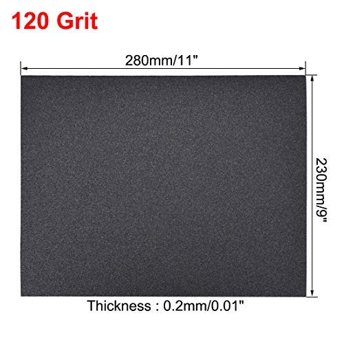Sandpaper sheets 120 Grits 9 inch x 11 inch dry and wet silicon carbide sandpaper for wood furniture Metal Polished automotive 10 pieces