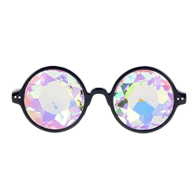 Geometrische Prisma Rainbow Kaleidoskop Gläser Black Frame Party ...