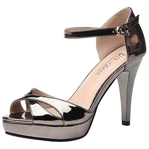 Cruz 37 Sandalias de Ajunr de Pistola multa bangdai una sandalias discoteca Mujer Moda de 34 color verano Transpirable elegante de Con nuevo wtZ1tAq