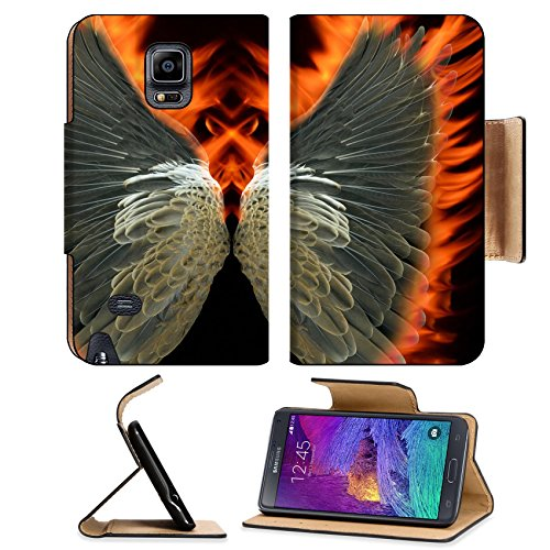 Liili Premium Samsung Galaxy Note 4 Flip Pu Leather Wallet Case IMAGE ID 27864530 Bird wings a blaze
