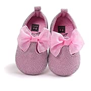 HEOPER Infant Baby Girls Moccasins Anti-Slip Soft Sole Princess Shoes Pink-13cm