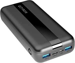 Zyron Australia Turbo Charge 20W PD Power Bank 20000mAh, 2-Way Fast Charging, 3 Output & 2 Inputs, AS/NZ Standards Tested, Compatible with iPhone 12/Samsung/Pixel/Switch, etc
