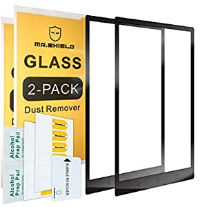 Mr Shield [2-Pack] for BlackBerry KEYone [Tempered Glass] [Full Cover] [Black] Screen Protector with Lifetime Replacement Warranty