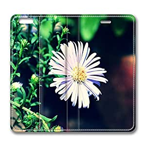 iPhone 6 Plus Case, Fashion Customized Protective PU Leather Flip Case Cover Violet Flower 2 for New Apple iPhone 6(5.5 inch) Plus