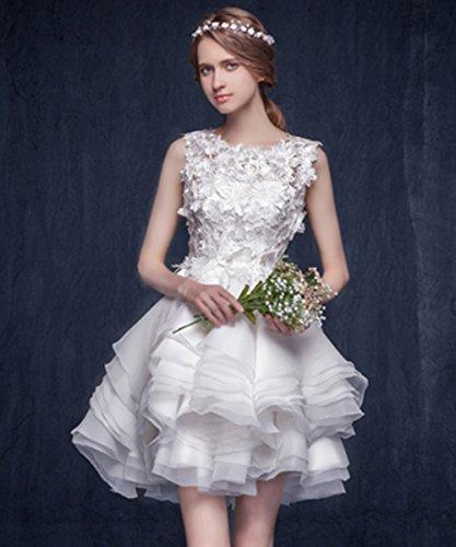 Short Prom Ball BessWedding Dress White Wedding Gowns Bride Lace Sexy Applique Womens 5Xq5UASx