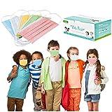 CHYOU 100PCS Disposable 3-Layer Face Màsc Bandanas Multicolor Face Bandanas Dust-Proof for Kids, Outdoor Activities