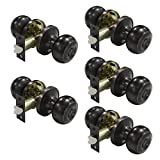 Probrico Oil Rubbed Bronze Door Knobs Privacy Bed or Bath Door Handles Keyless Handle Lockset 5 Pack
