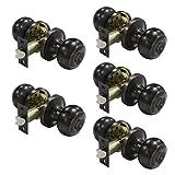 removable door lock - Probrico Oil Rubbed Bronze Door Knobs Privacy Bed or Bath Door Handles Keyless Handle Lockset 5 Pack