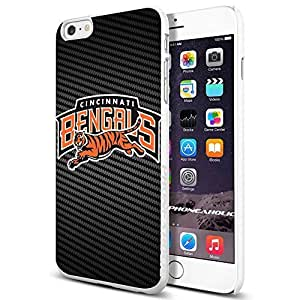 diy zhengAmerican Football NFL Vincinnati Bengals , , Cool iphone 5c Smartphone Case Cover Collector iphone TPU Rubber Case White [By PhoneAholic]