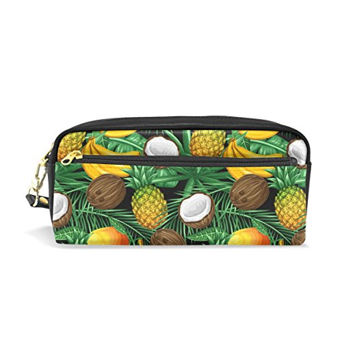 Banana Coconut Mango Leather Student Pencil Case Cosmetic