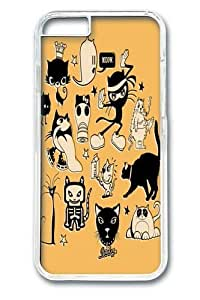 Cat Menagerie Custom iphone 6 plus 5.5 inch Case Cover Polycarbonate Transparent wangjiang maoyi