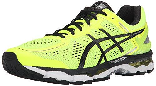 ASICS Men's Gel Kayano 22 Running Shoe, Flash Yellow/Black/Silver, 6 M US