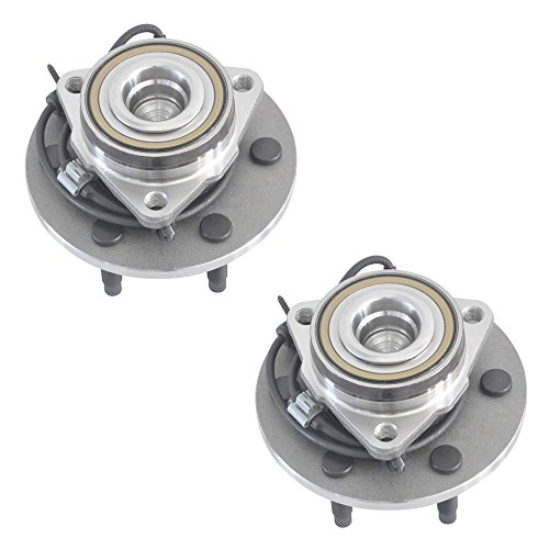 DRIVESTAR 515054x2 (Pair) New Front Wheel Hub & Bearing for Cadillac Chevy GMC 2WD 6 Lug (Chevy Suburban Wheels)