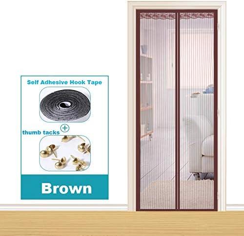 Dormitorio de la casa de verano cortina anti-mosquitos absorción magnética manos libres puerta blindada electromagnética mejorada, pantalla de la puerta de la cortina anti-mosquitos A3 W100xH210