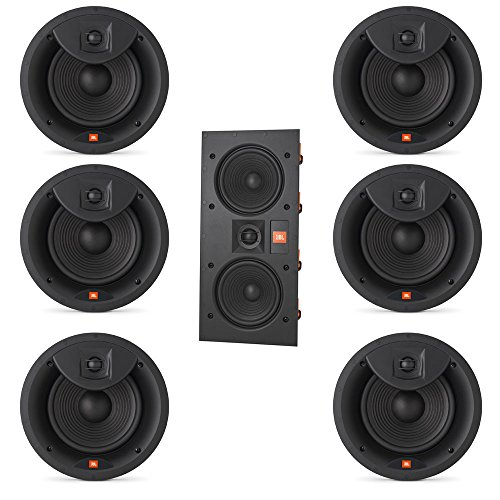 JBL Arena 7.0 Home Theater System with 6 JBL Arena 8IC In-Ceiling Loudspeakers and 1 JBL Arena 55IW In-Wall Loudspeaker