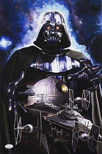 Star Wars Darth Vader 19X13 Ltd Ed Lithograph Autographed Signed Memorabilia By Greg Horn - JSA Authentic