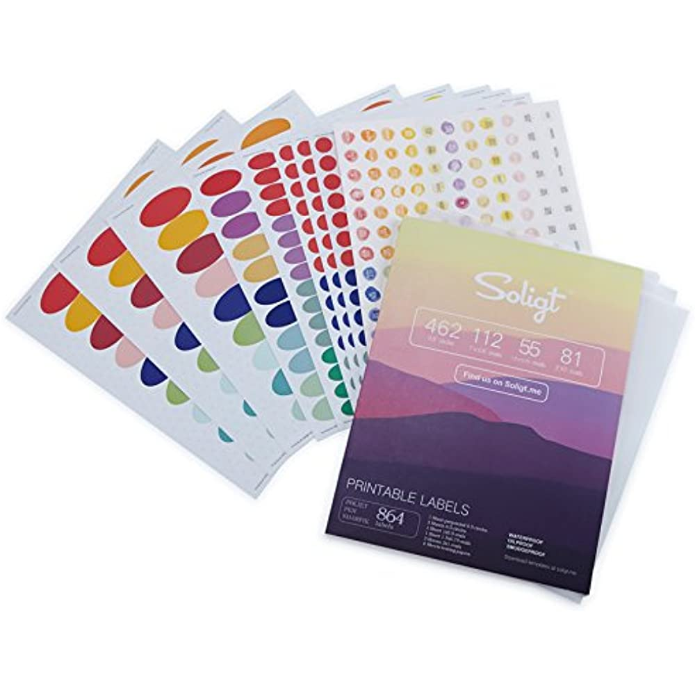 Details about Waterproof Essential Oil Labels Set, 9 Sheets 864, Blank  Printable Stickers For