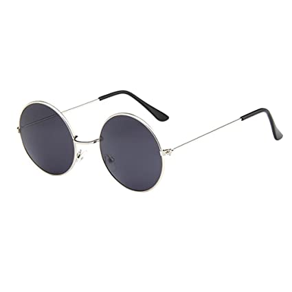 0e85578f74 Image Unavailable. Image not available for. Color  Dainzuy Oversized Round  Circle Mirrored Hippie Hipster Sunglasses - Metal Frame ...