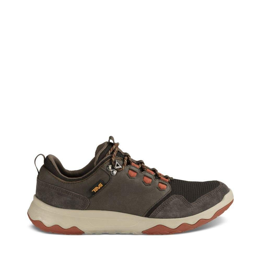 Teva Men's M Arrowood Waterproof Hiking Shoe, Black Olive/Fired Brick, 9.5 M US by Teva