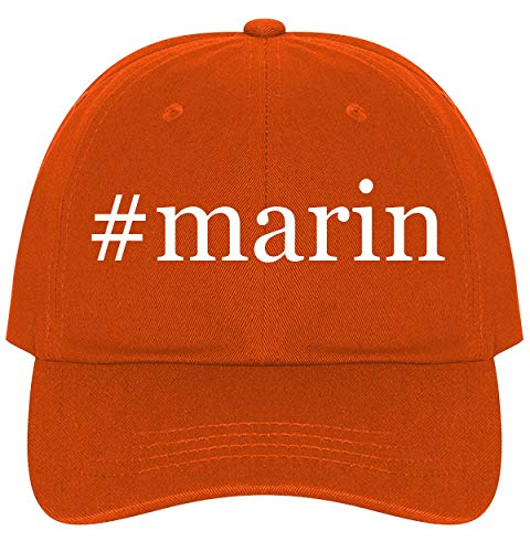 - The Town Butler #Marin - A Nice Comfortable Adjustable Hashtag Dad Hat Cap, Orange