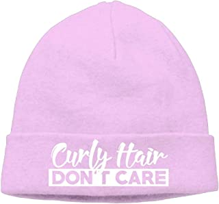 ASKYE Mens Curly Hair Don't Care Funny Skiing Black Beanies Caps